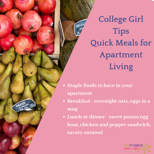 From College Girl to College Girl: Quick Meals for Apartment Living