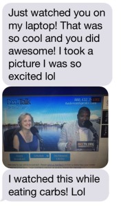 Text Message from a Client