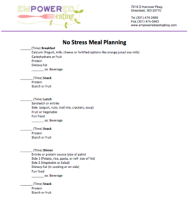 meal planning meal plan